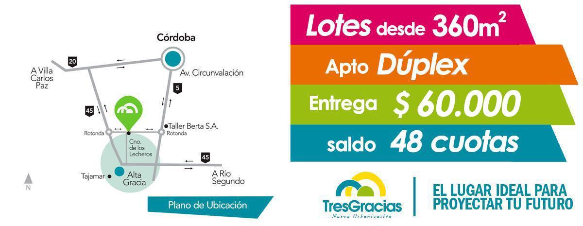 Sergio Villella. emprendimiento Tres Gracias Nueva Urbanizacion en Alta Gracia