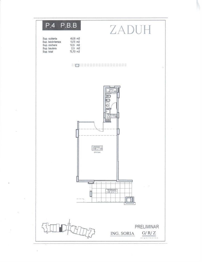 Oficina en Alquiler Venta en Zaduh a Alquiler - $ 6.000 Venta - u$s 155.000