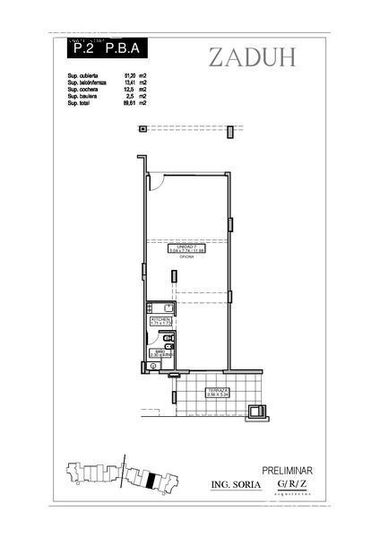 Oficina en Alquiler en Zaduh a Alquiler - $ 9.000