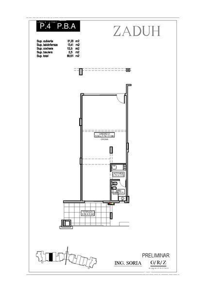 Oficina en Alquiler en Zaduh a Alquiler - $ 13.000